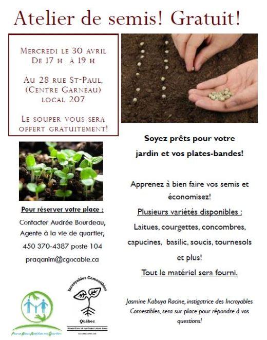 Un atelier de semis ouvert à tous