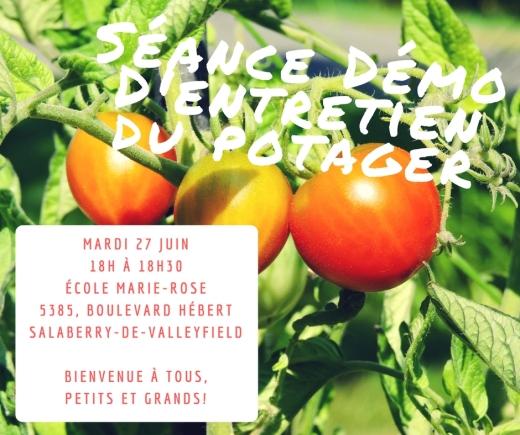 Séance DémoD'entretien du potager